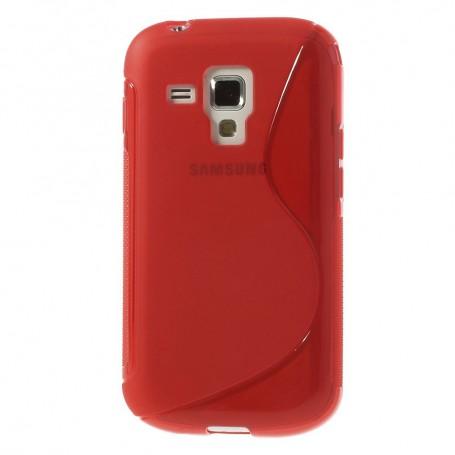 Galaxy Trend punainen silikonisuojus.