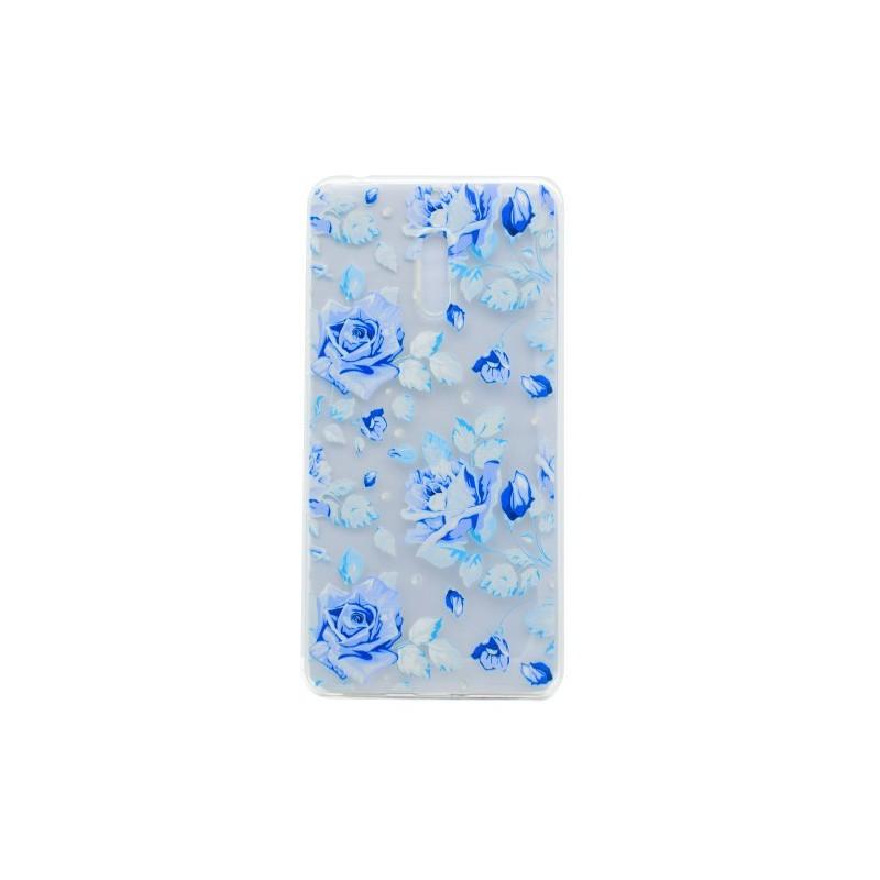 Nokia 6 siniset ruusut suojakuori.