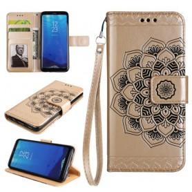 Samsung Galaxy S8 kullanvärinen mandala puhelinlompakko