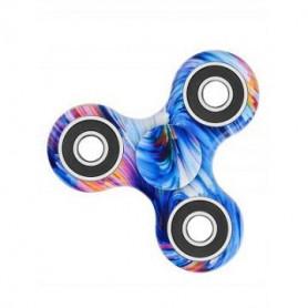 Siniset kuviot Fidget Spinner.