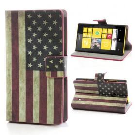 Lumia 520 Yhdysvaltojen lippu lompakkokotelo.