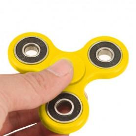 Keltainen Fidget Spinner.