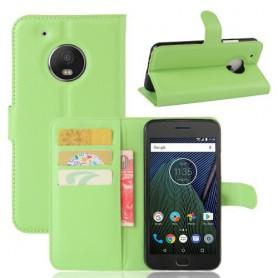 Motorola Moto G5 vihreä puhelinlompakko