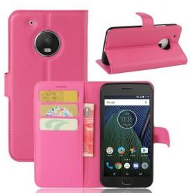 Motorola Moto G5 pinkki puhelinlompakko
