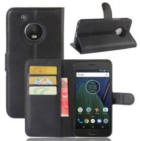 Motorola Moto G5 musta puhelinlompakko
