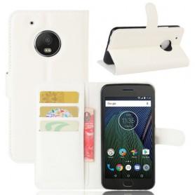 Motorola Moto G5 valkoinen puhelinlompakko
