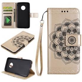 Motorola Moto G5 kullanvärinen mandala puhelinlompakko