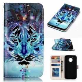Motorola Moto G5 sininen tiikeri puhelinlompakko