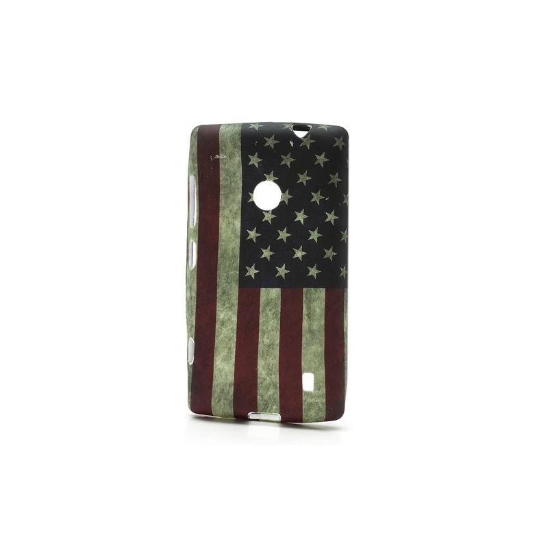 Lumia 520 Yhdysvaltojen lippu silikonisuojus.