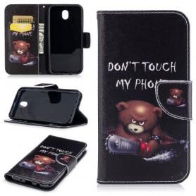 Samsung Galaxy J5 2017 vihainen nalle puhelinlompakko