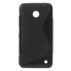 Lumia 630 musta silikonisuojus.