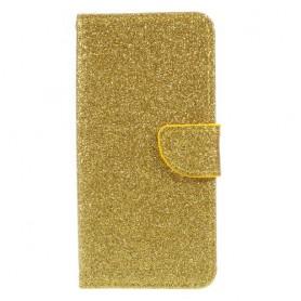 Samsung Galaxy J3 2017 kullanvärinen glitter puhelinlompakko