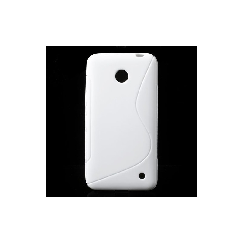 Lumia 630 valkoinen silikonisuojus.