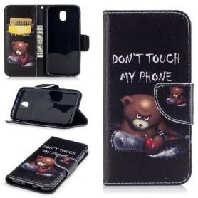 Samsung Galaxy J3 2017 vihainen nalle puhelinlompakko