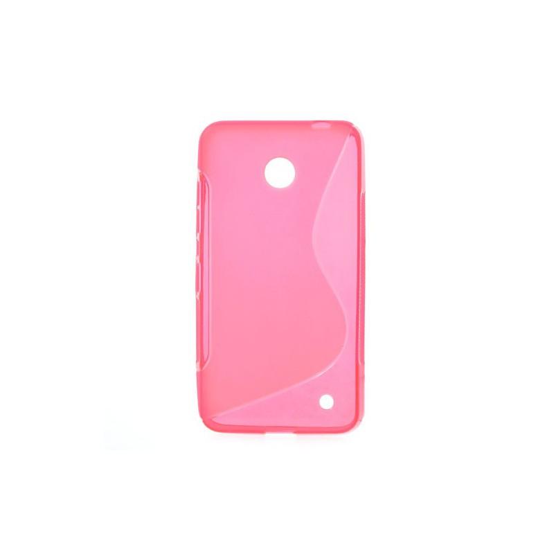 Lumia 630 roosan punainen silikonisuojus.
