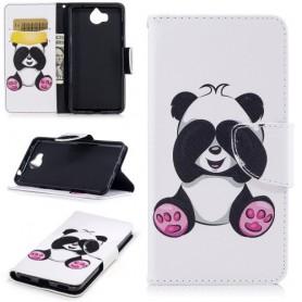 Huawei Y6 2017 panda puhelinlompakko