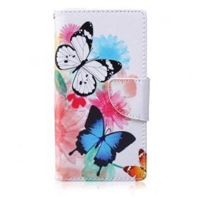 Huawei P8 Lite perhoset puhelinlompakko