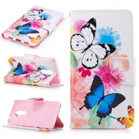 Huawei Honor 6X perhoset puhelinlompakko