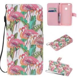 Huawei P10 Lite flamingot puhelinlompakko