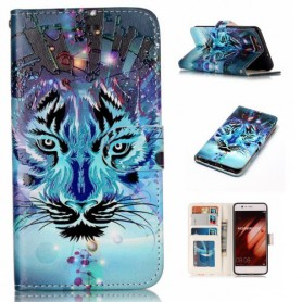 Huawei P10 sininen tiikeri puhelinlompakko