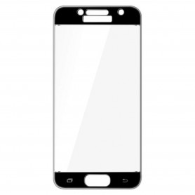 Samsung Galaxy A3 2017 kirkas karkaistu lasikalvo musta.