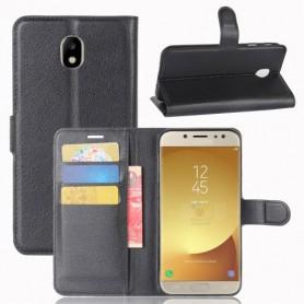 Samsung Galaxy J7 2017 musta puhelinlompakko