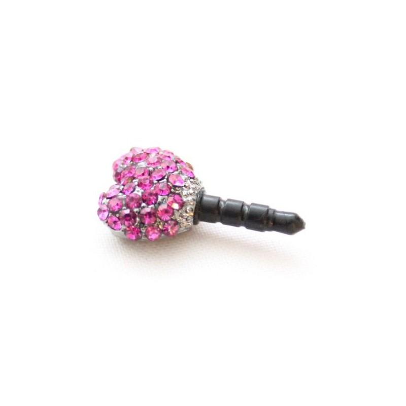 Koriste kännykkään - violetti timanttisydän.