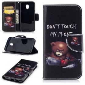 Samsung Galaxy J7 2017 vihainen nalle puhelinlompakko