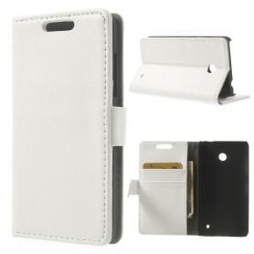 Lumia 630 valkoinen puhelinlompakko