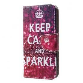 Samsung Galaxy J3 2017 keep calm puhelinlompakko