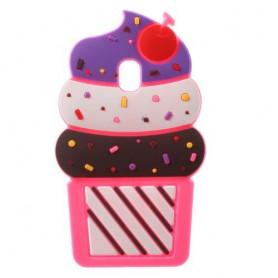 Samsung Galaxy J3 2017 pinkki jäätelö silikonisuojus.