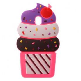 Samsung Galaxy J5 2017 pinkki jäätelö silikonisuojus.