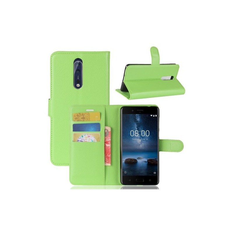 Nokia 8 vihreä puhelinlompakko