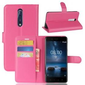 Nokia 8 pinkki puhelinlompakko