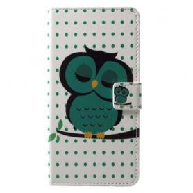 Nokia 6 vihreä pöllö puhelinlompakko