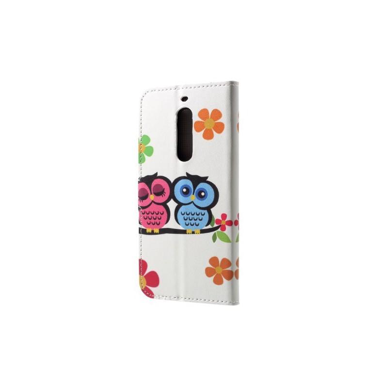 Nokia 5 pöllöpariskunta puhelinlompakko
