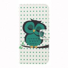 Nokia 3 vihreä pöllö puhelinlompakko