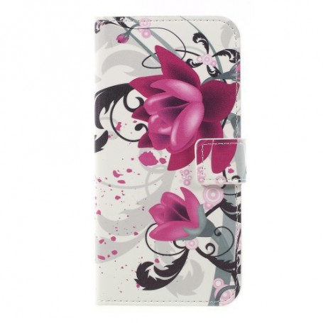 Nokia 3 violetit kukat puhelinlompakko