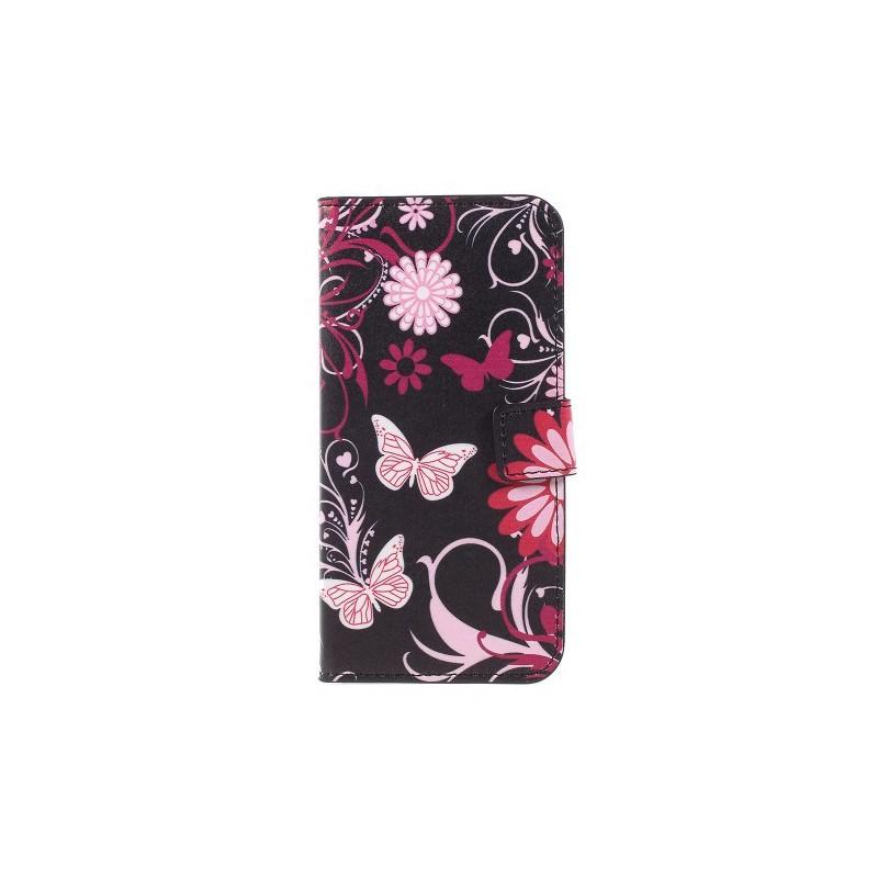 Nokia 3 kukkia ja perhosia puhelinlompakko