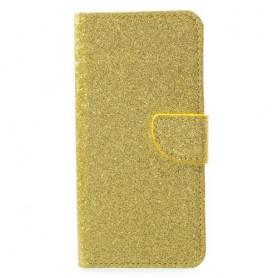 Huawei Honor 9 kullanvärinen glitter puhelinlompakko