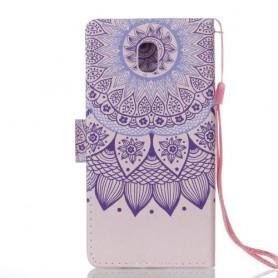 Samsung Galaxy J5 2017 violetti mandala suojakotelo