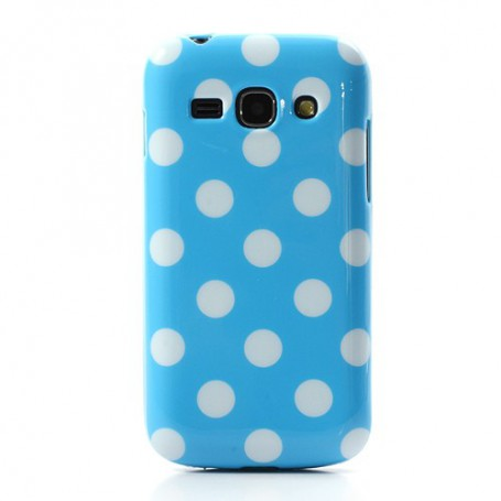 Galaxy S3 sininen polka dot suojakuori.