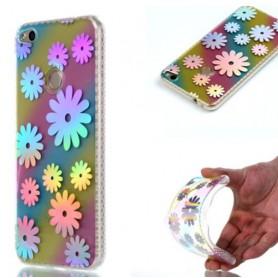 Huawei Honor 8 Lite värikkäät kukat suojakuori.