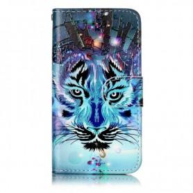 Apple iPhone SE sininen tiikeri puhelinlompakko