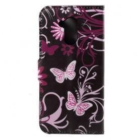 Huawei Honor 6A kukkia ja perhosia suojakotelo