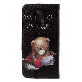 Huawei Honor 6A vihainen nalle suojakotelo