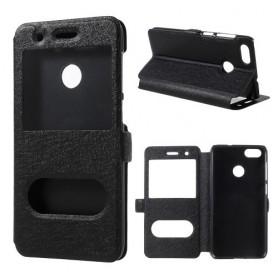 Huawei P9 Lite Mini musta ikkunakotelo