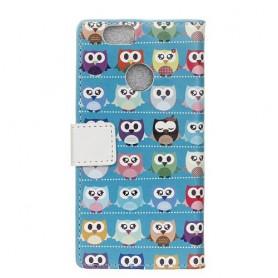 Huawei P9 Lite Mini värikkäät pöllöt suojakotelo
