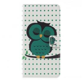 Huawei Y7 vihreä pöllö suojakotelo