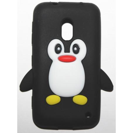 Lumia 620 musta pingviini silikonisuojus.